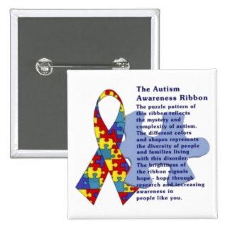 Das Autismus-Bewusstseins-Band Button