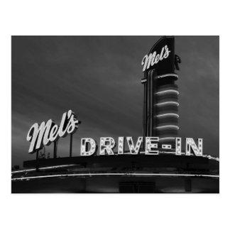 Das Autokino-Postkarte des Mels
