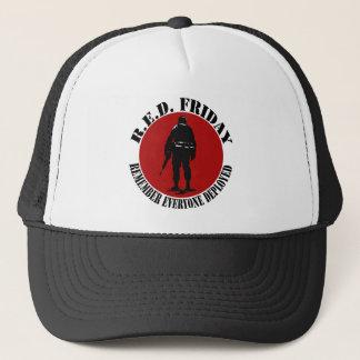 Das Baby der Frauen ROTER patriotischer T-Shirt Truckerkappe