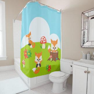 Das Baby-niedlicher entzückender BrownFox der Duschvorhang