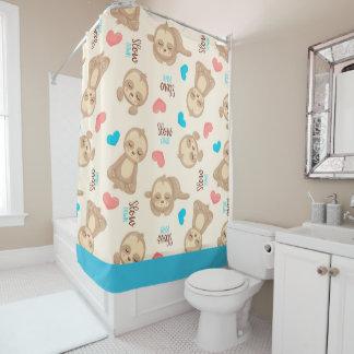Das Baby-niedlicher entzückender BrownSloth der Duschvorhang