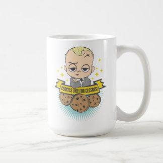 Das Baby u. die Plätzchen des Chef-Baby-| sind für Kaffeetasse