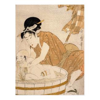 Das Bad, die Edo-Zeit Postkarte