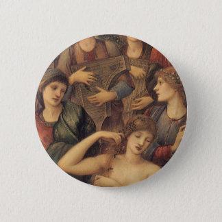 Das Bad von Venus durch Sir Edward Coley Burne Runder Button 5,7 Cm