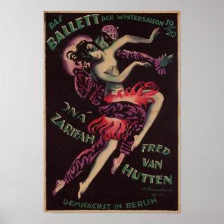 DAS Ballett (das Ballett), Josef Fenneker Poster