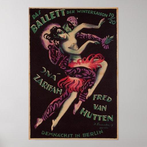 DAS Ballett (das Ballett), Josef Fenneker Plakatdruck