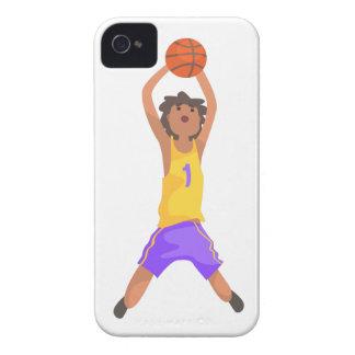 Das Basketball-Spieler-Springen und werfende Case-Mate iPhone 4 Hülle
