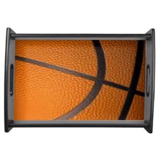 Das Basketball-Sport-Entwurfs-Serviertablett Tablett