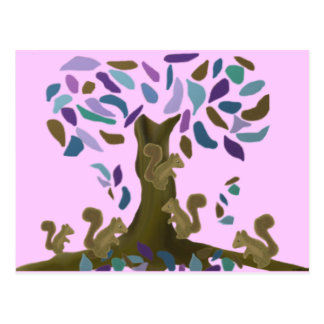 Das Baumhaus des Eichhörnchens Postkarte
