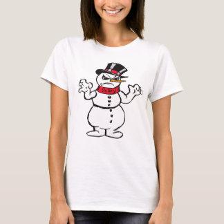 Das beängstigende T-Shirt der Snowman-Frau