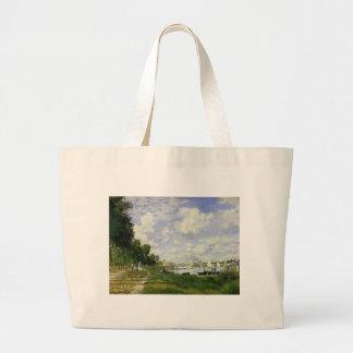 Das Becken bei Argenteuil - Claude Monet Jumbo Stoffbeutel