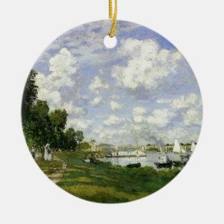 Das Becken bei Argenteuil - Claude Monet Rundes Keramik Ornament