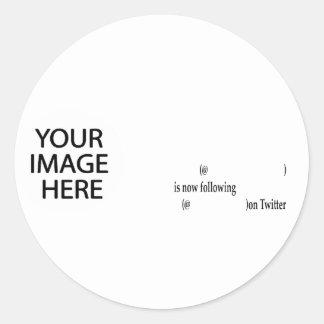 Das Beispiel, das auf Twitter folgt, addieren Bild Stickers