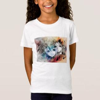 Das Bella Vintager Mädchen Gesichter des Anime T-Shirt