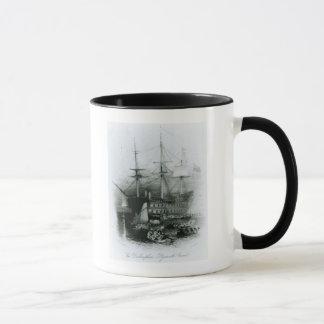 Das Bellerophon an Plymouth-Ton Tasse