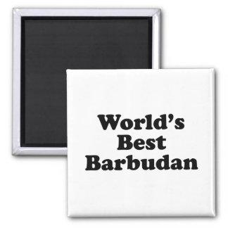 Das beste Barbudan der Welt Quadratischer Magnet