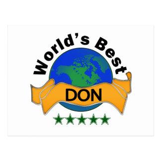 Das beste DON der Welt Postkarte