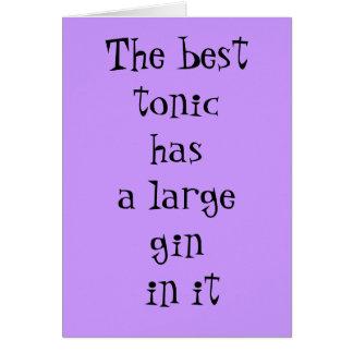 Das beste Stärkungsmittel hat einen großen Gin in Karte