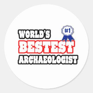 Das Bestest der Welt Archäologe Runder Aufkleber