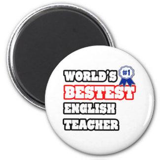 Das Bestest der Welt Englischlehrer Runder Magnet 5,1 Cm