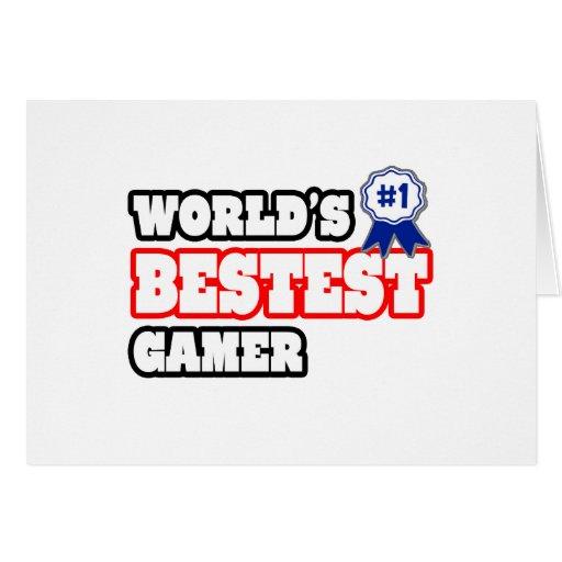 Das Bestest der Welt Gamer Grußkarten