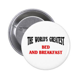 Das bestste Bett der Welt - und - Frühstück Runder Button 5,7 Cm