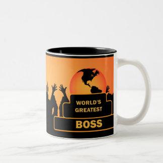 Das bestste Gold der Chef-Welt jubelt Tasse zu