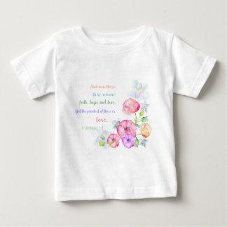 das bestste von diesen ist Liebe-Blumen Watercolor Baby T-shirt