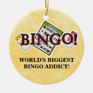 Das Bingo-Süchtigverzierung der Welt größte Rundes Keramik Ornament