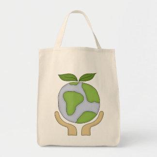 Das Bio Einkaufen Tasche-Gehen grüne Umwelt Einkaufstasche