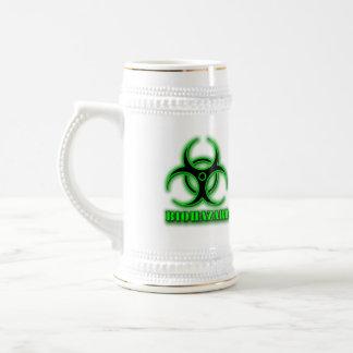 Das Biogefährdung-Bier Stein Bierglas