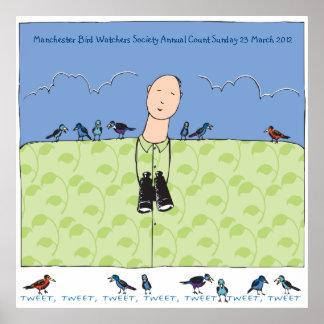 Das Birdwatcher u. sein Vogel-Plakat Poster