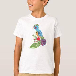 Das blaue Quetzal T-Shirt