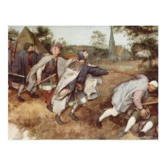 Das blinde, das blinde führend - 1568 postkarte