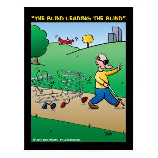 """""""Das blinde, das blinde führend """" Postkarte"""