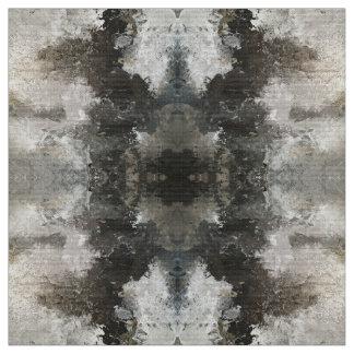 Das Blizzard-graues Weiß-abstrakte Baumwollgewebe Stoff