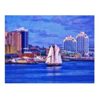 Das Bluenose Segelboot Halifax Neuschottland Postkarte