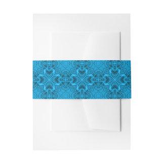 Das Blues-Kaleidoskop-Einladungs-Bauch-Band Einladungsbanderole