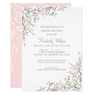Das Blühen erröten Wedding BlumenBrautparty Karte