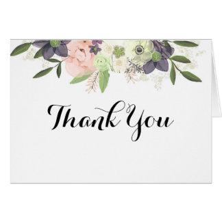 Das Blumen Aquarell danken Ihnen zu kardieren Karte