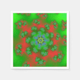 Das Blumen Weihnachten besprüht Papierservietten