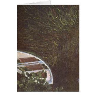 Das Boot durch Claude Monet Karte