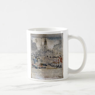 Das Boston-Massaker durch Paul Revere 1770 Kaffeetasse