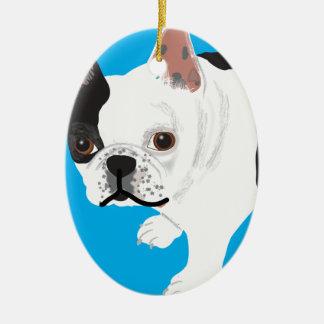 das Boston Terrier Toby Elaine scharnitzkys Ovales Keramik Ornament
