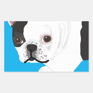 das Boston Terrier Toby Elaine scharnitzkys Rechteckiger Aufkleber