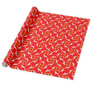 Das Boxer-Muster Geschenkpapier