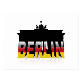 Das Brandenburger Tor in Berlin (Deutschland) Postkarte