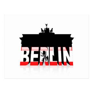 Das Brandenburger Tor in Berlin Postkarte