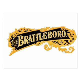 """""""Das Brattleboro"""" Logo von einem alten Organ Postkarte"""