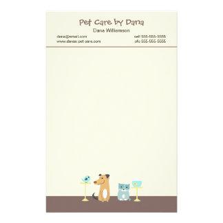Das Briefpapier des Haustier-Modells
